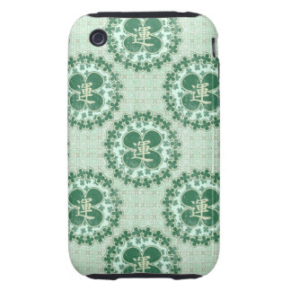 Mint Green Lucky Pattern Tough iPhone 3 Cover
