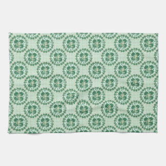 Mint Green Lucky Pattern Kitchen Towel