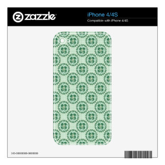 Mint Green Lucky Pattern Skin For The iPhone 4