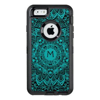 Mint Green Mandala Monogram Customizable Color OtterBox iPhone 6/6s Case