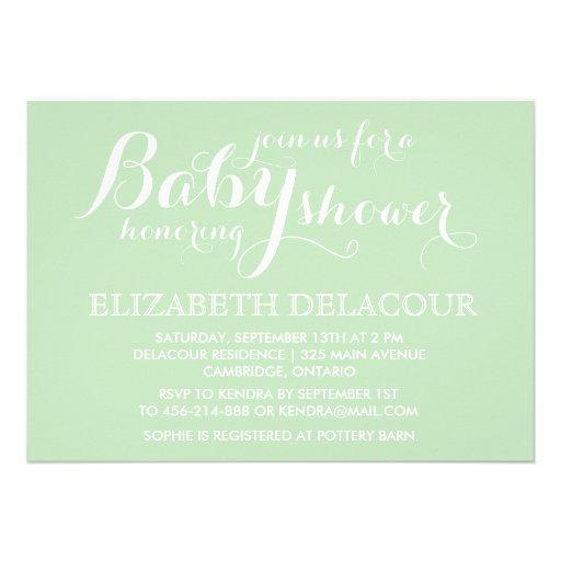 mint green modern baby shower invitation zazzle