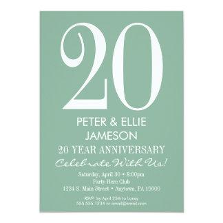 Mint Green Modern Simple Anniversary Invitations