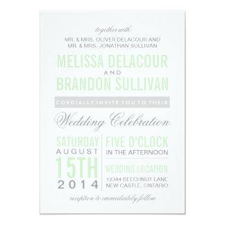 Mint Green Modern Typography Wedding Invitation