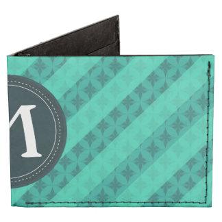 Mint Green Monogram Wallet Billfold Wallet