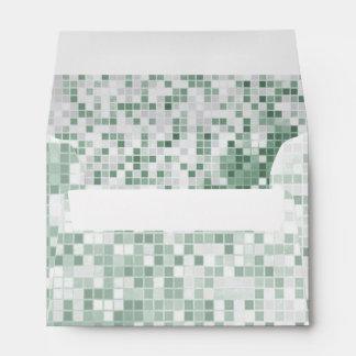 Mint Green Mosaic Envelope