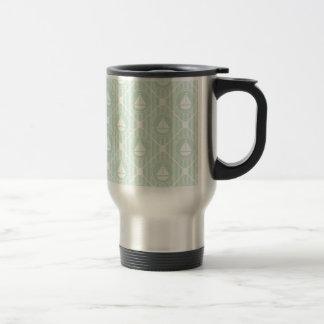 Mint Green Nautical Sailboat Travel Mug