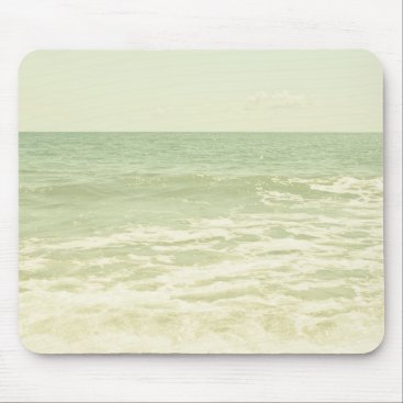 Beach Themed Mint Green Ocean Pastel Beach Photography Mouse Pad