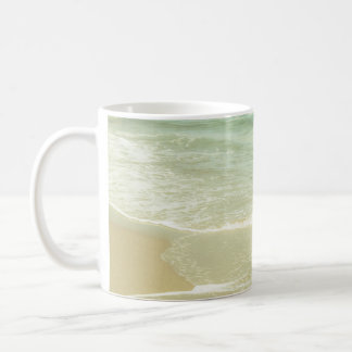 Mint Green Ocean Pastel Beach Photography Classic White Coffee Mug