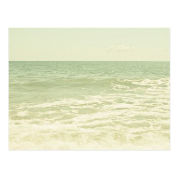 Beach Themed Mint Green Ocean Pastel Beach Photography Postcard