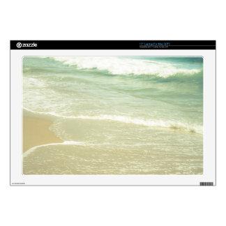 "Mint Green Ocean Pastel Beach Photography 17"" Laptop Decal"