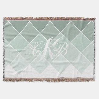 Mint Green Wedding Throw Fleece Custom Blankets Zazzle