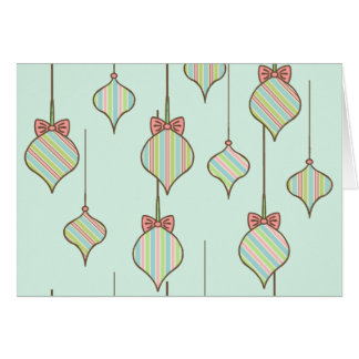 Mint Green Ornaments Holiday Card