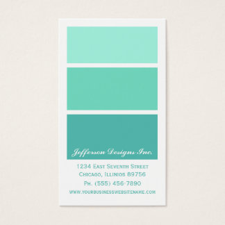 Mint Green Paint Chips Business Cards