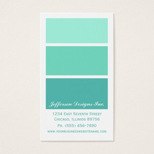 Mint green paint chips business cards zazzle mint green paint chips business cards reheart Images