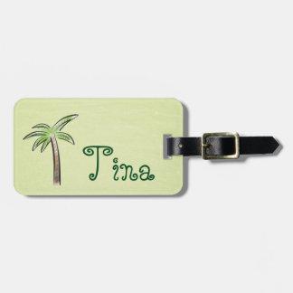 Mint Green Palm Tree Bag Tag