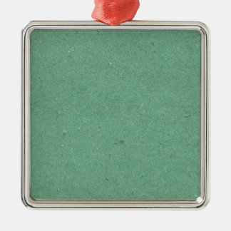 Mint Green Paper Texture Metal Ornament