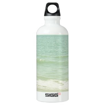 Beach Themed Mint Green Pastel Beach Photography Aluminum Water Bottle