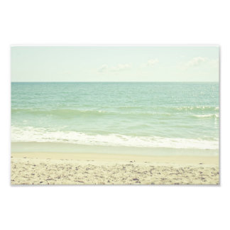 Mint Green Pastel Beach Photography Photo Print