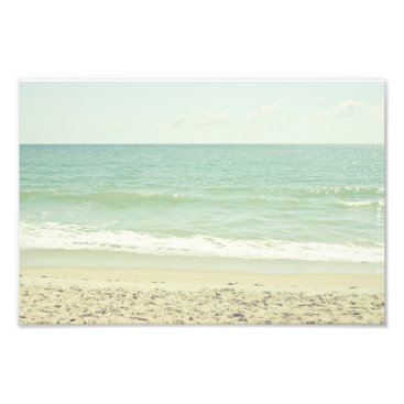 Beach Themed Mint Green Pastel Beach Photography Photo Print