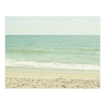 Beach Themed Mint Green Pastel Beach Photography Postcard