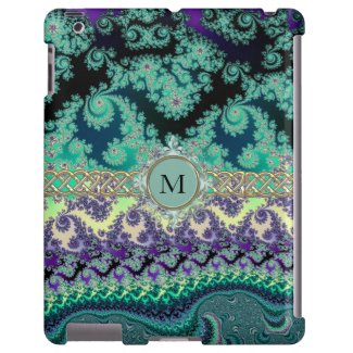Mint Green Pastet Fractal Personalized iPad Case
