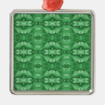 Mint Green Pattern Christmas Ornaments