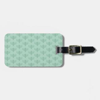 mint-green pattern luggage tag