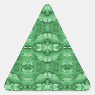Mint Green Pattern Triangle Sticker