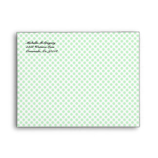 Mint Green Polka Dot A2 Envelopes