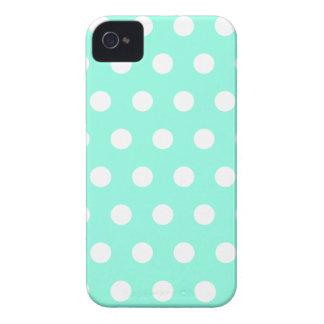 Mint Green Polka Dot Blackberry Case