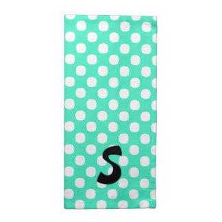 Mint Green Polka Dot Monogram Cloth Napkins