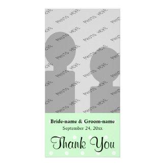 Mint Green Polka Dot Pattern. Wedding Thank You Card
