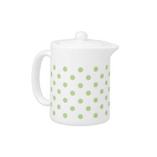 Mint Green Polka Dot Teapot