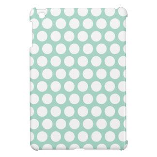 Mint green polka dots iPad mini cases
