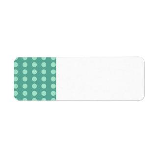 Mint Green Polka Dots on Green Pattern Gifts Return Address Label