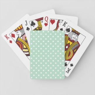 Mint Green Polka Dotted Basic Playing Cards