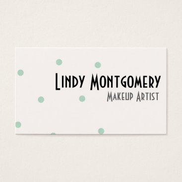 Professional Business Mint Green Polkadot Personalized Business Cards