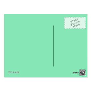 Mint Green Postcard