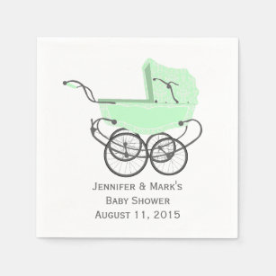 Mint Green Paper Amp Party Napkins Zazzle