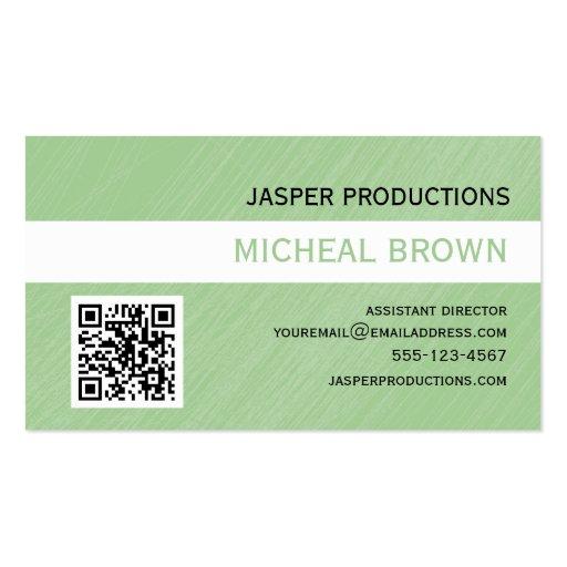 Mint Green QR Code Business Card