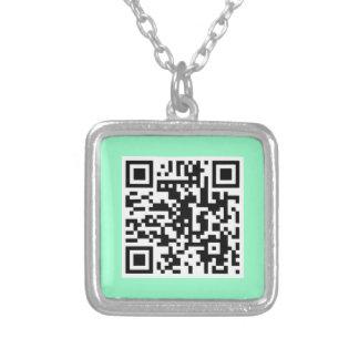 Mint Green QR CODE Necklace