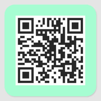 Mint Green QR CODE Sticker