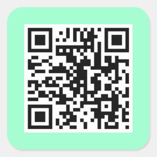 Mint Green QR CODE Sticker