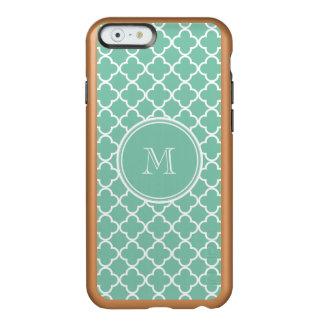 Mint Green Quatrefoil Pattern, Your Monogram Incipio Feather Shine iPhone 6 Case