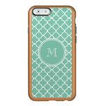 Mint Green Quatrefoil Pattern, Your Monogram Incipio Feather® Shine iPhone 6 Case
