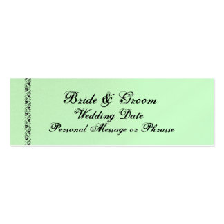 MINT GREEN Reminder Insert  - WEDDING Invitation Double-Sided Mini Business Cards (Pack Of 20)