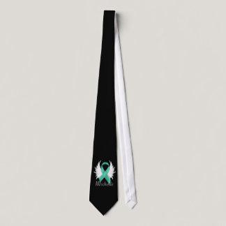 Mint Green Ribbon Angel Wings Tie