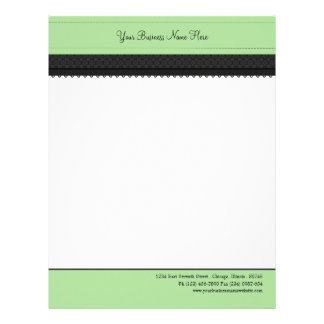 Mint Green Ribbon Business Letterhead