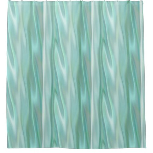Mint Green Satin Look Shower Curtain