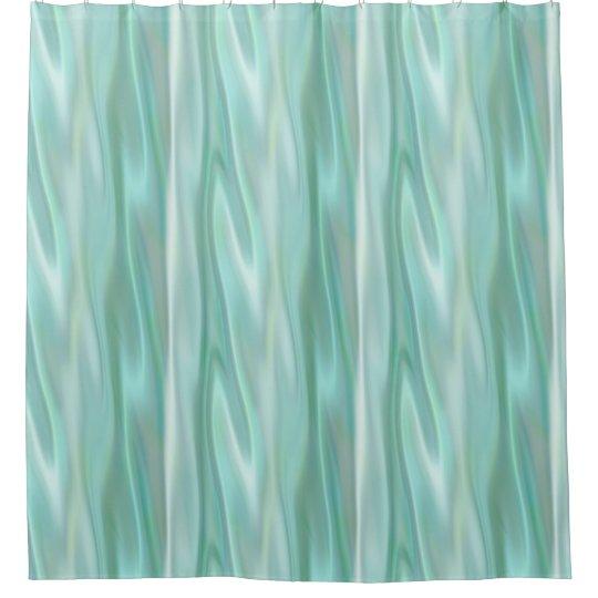 Mint Green Satin Look Shower Curtain